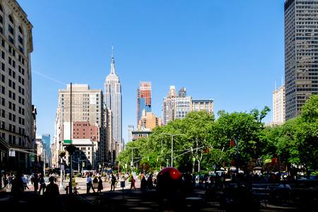An image of the Empire State Building in New York USA