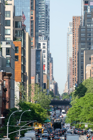 An image of the traffic in New York City USA