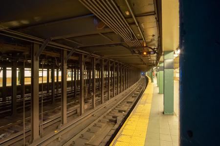 An image of a New York City Manhattan Underground Station