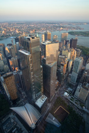An image of Manhattan New York from above 写真素材
