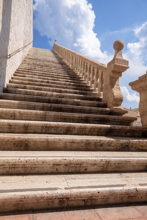 An image of a stairway to heaven Assisi in Italy Stockfoto