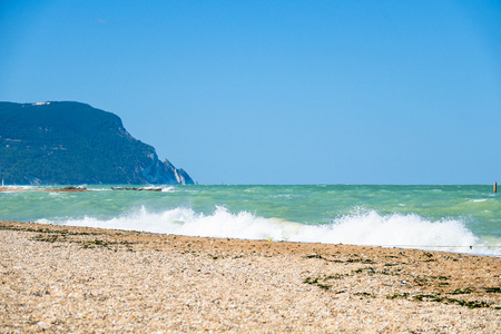 An image of a view to the sea near Ancona, Italy Banque d'images