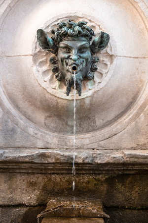 An image of a bacchus fountain in Marche Italy Reklamní fotografie