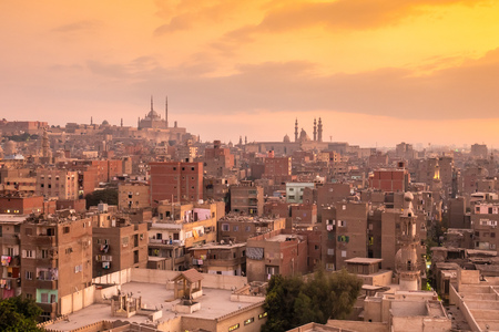 An image of a sunset scenery at Cairo Egypt 写真素材