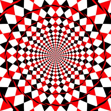 An optical illusion fake spiral