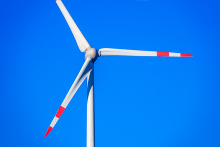 An image of a wind energy detail blue sky Standard-Bild - 124798034