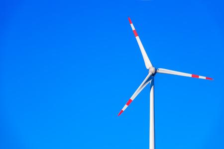 An image of a wind energy detail blue sky Standard-Bild - 124798037
