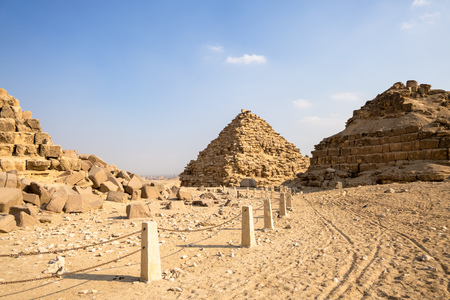 An image of the Pyramids at Giza Cairo Egypt Banque d'images - 124799456