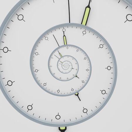 An illustration of a clock deadline spiral Stockfoto