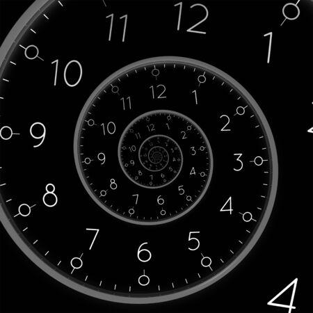 Eine von einer Uhr-Deadline-Spirale