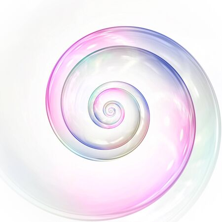 A soap bubble colors spiral 版權商用圖片