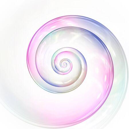 Una burbuja de jabón en espiral de colores. Foto de archivo