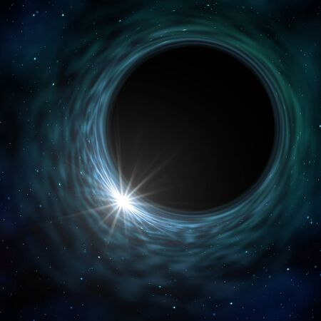 An illustration of a space time warp singularity Reklamní fotografie