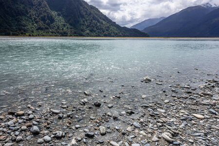 An image of a river landscape scenery in south New Zealand