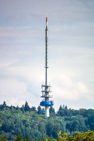An image of a radio broadcast tower in the black forest area Kaiserstuhl Germany Zdjęcie Seryjne