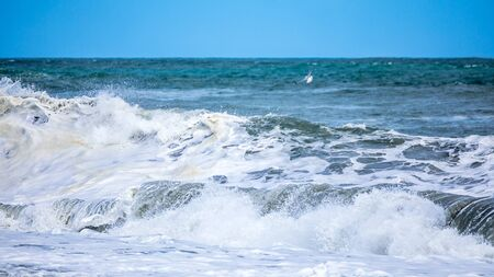 An image of a stormy ocean scenery background Stock fotó - 129324727