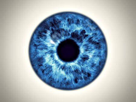 An illustration of a beautiful blue eye iris texture Stock Photo
