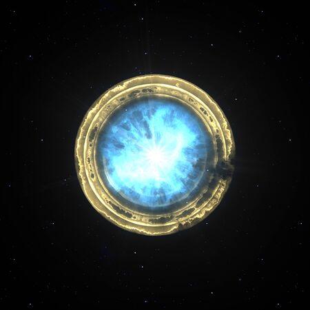 A supernova explosion in space illustration Zdjęcie Seryjne - 129324900