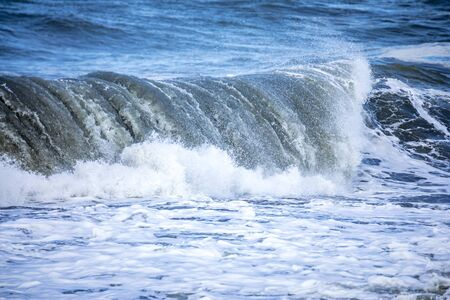 An image of a stormy ocean scenery background Stock fotó - 129324902