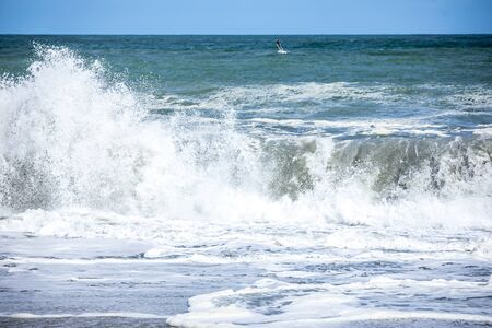 An image of a stormy ocean scenery background Stock fotó - 129324975