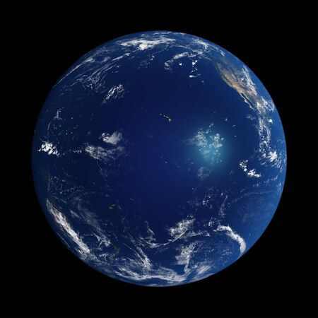 Der Planet Erde mit NASA-Texturen 3D-Darstellung