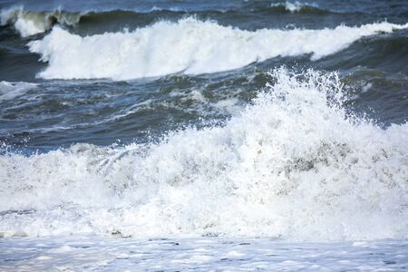 An image of a stormy ocean scenery background Stock fotó - 129325188