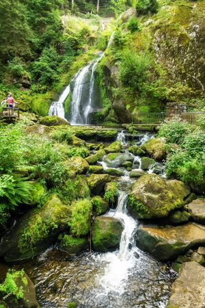 An image of the waterfall at Triberg in the black forest area