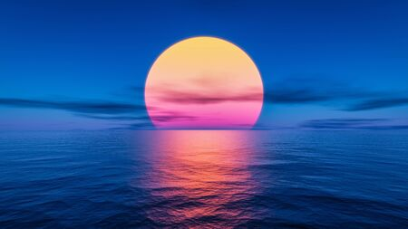 A great sunset over the ocean