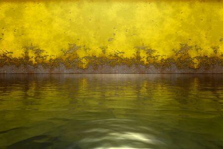 Rusty metal wall water surface Standard-Bild - 130150860