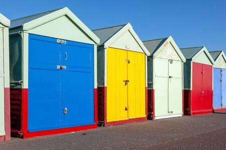 An image of the beautiful UK Brighton beach huts 写真素材