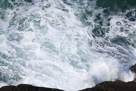An image of a very rough coast at Cornwall Great Britain England