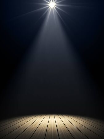 Illustration of a moody stage light background