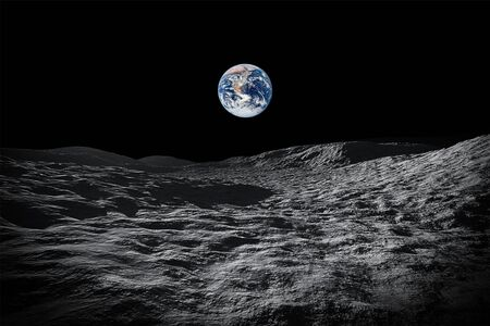 An image of a space view to our planet earth from moon Stock fotó