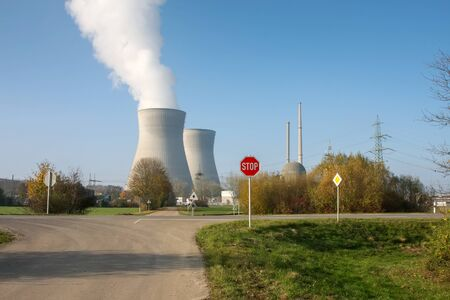 A photography of the nuclear power at Germany Gundremmingen
