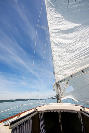 An image of a sailing boat at Starnberg Lake in Germany