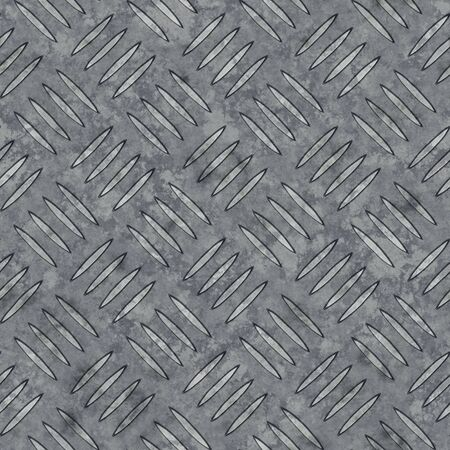 Illustration of a seamless diamond metal plate texture