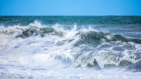 An image of a stormy ocean scenery background Banco de Imagens