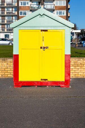An image of the beautiful UK Brighton beach hut