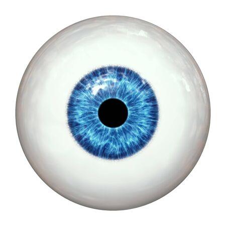 2d illustration of a blue human eye ball Фото со стока