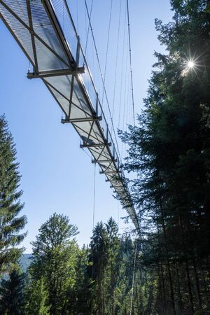 An image of the cable bridge at Bad Wildbad south Germany