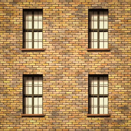 illustration of a brick wall with windows texture 스톡 콘텐츠