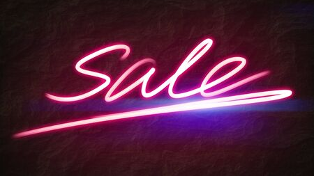 An illustration of a pink sale light painting Banco de Imagens - 131321205