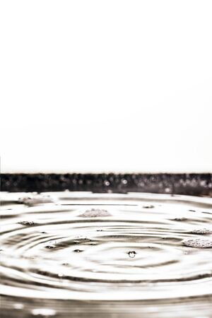 An image of a beautiful black water drop background Archivio Fotografico