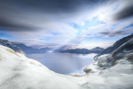 A winter scenery snow landscape