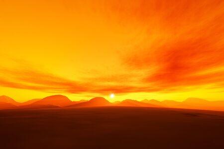 A beautiful orange sunset
