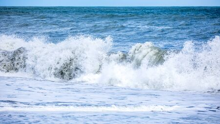 An image of a stormy ocean scenery background Archivio Fotografico