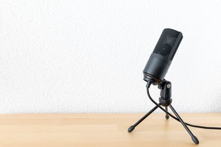 An image of a typical microphone on white background