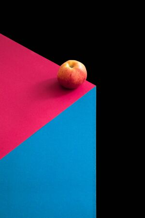 An image of an fresh apple fruit on a color background
