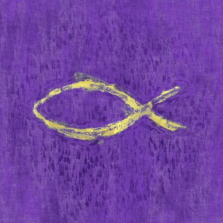 An illustration of a christian symbol fish