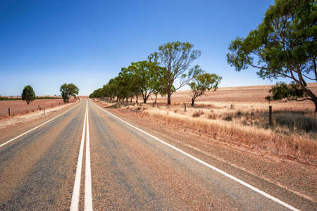 An image of a road in dry south Australia